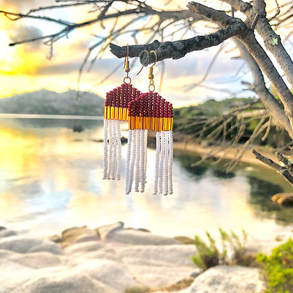 Folk | Handgemaakte oorbellen - Goud