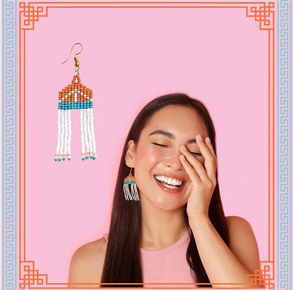 Folk | Handmade Beaded Earrings - Terracotta