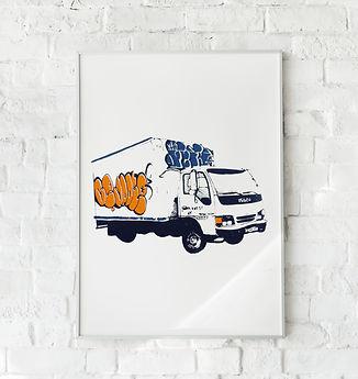 screen print truck white brick wall.jpg