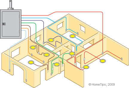 An analogy: nerves run through our skeletal muscles like  electrical circuits through our homes