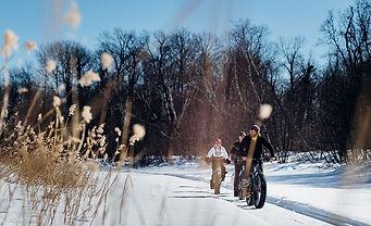 Fat tire biking in the winter in Saskatchewan