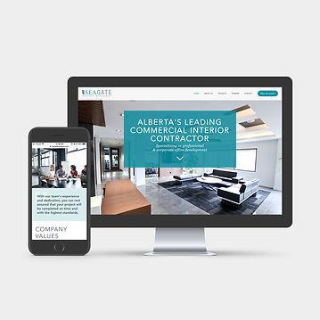 Consturction Website Design | Juliana Laface Graphic Design & Web Design | Edmonton, AB