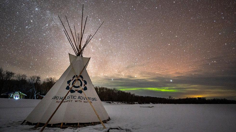 The night sky view off the grid in Saskatchewan