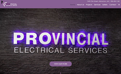 Provincial Electrical A stunning on-brand website for a Commercial Elect...