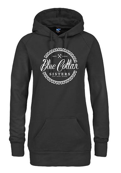 Long Black Pullover Hoodie