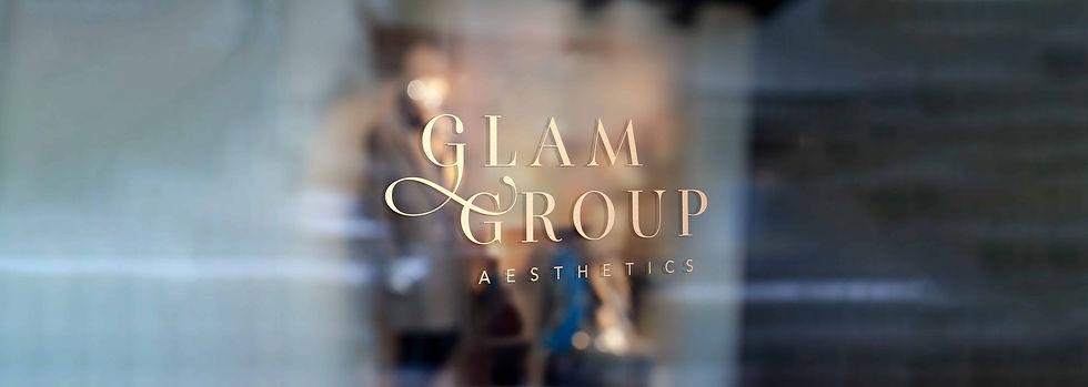Glam Group Aesthetics Beauty Industry Logo Brand Design