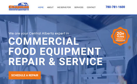 Chapman Food Equipment Repair A stunning one-page website that highlights your s...