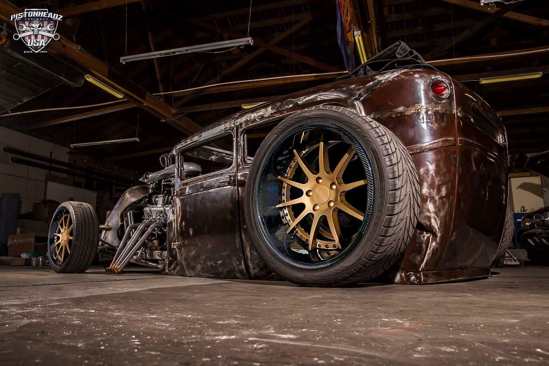 C10-3piece satin bronze center gloss car
