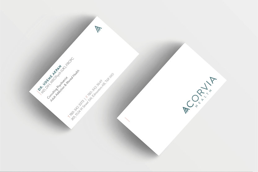 Acorvia Health Logo Design | Juliana Laface Graphic Design & Web Design | Edmonton, AB