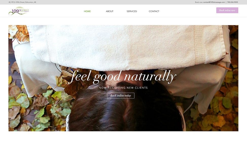 Massage Website Design | Juliana Laface Graphic Design & Web Design | Edmonton, AB