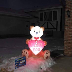 Hug a bear inflatable