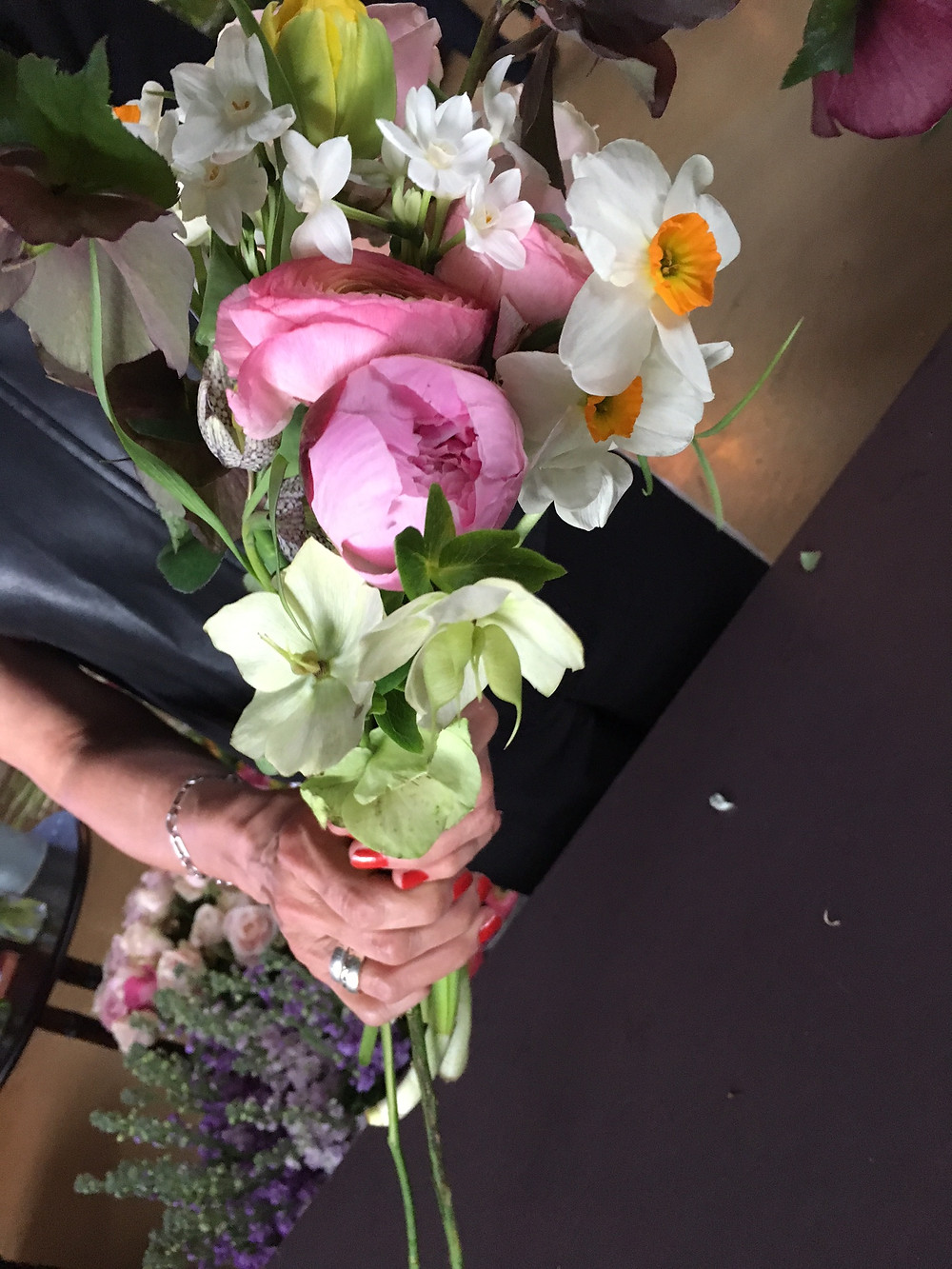 Here I am wrapping my lovely flowers, aren't they gorgeous?