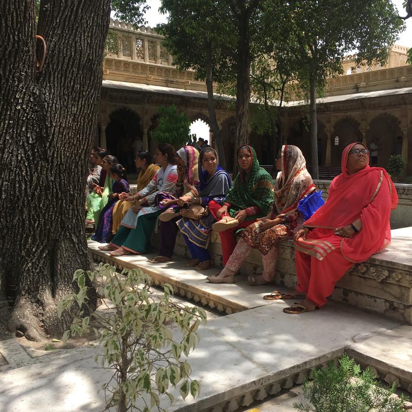 Ladies in saris