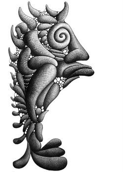 Fish - 80x60cm - nanquim