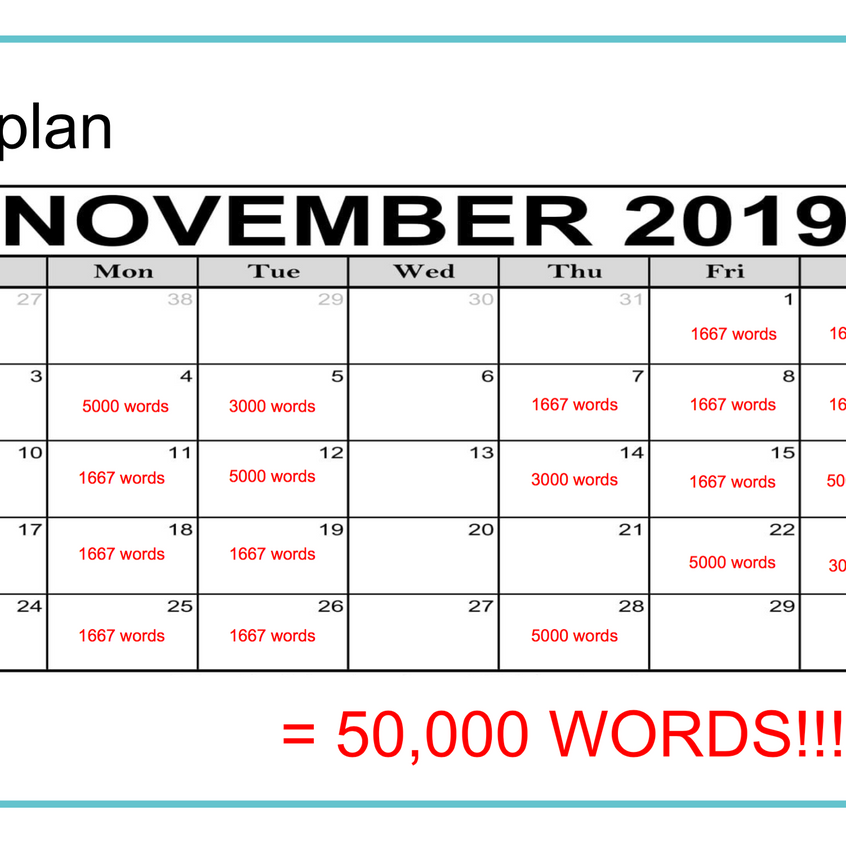 Example NaNo Calendar
