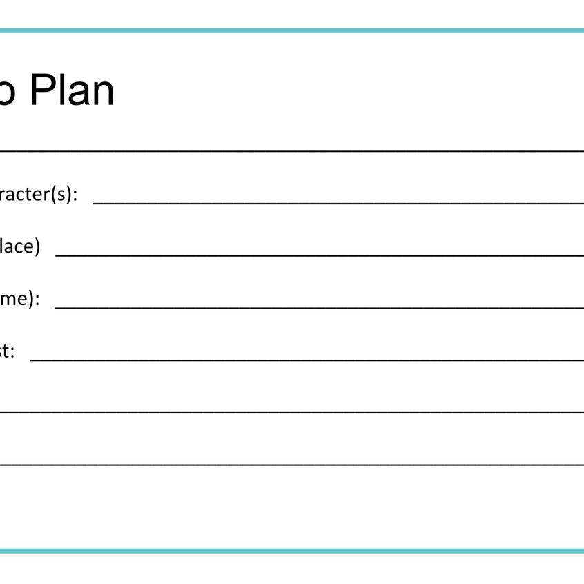 My NaNo Plan
