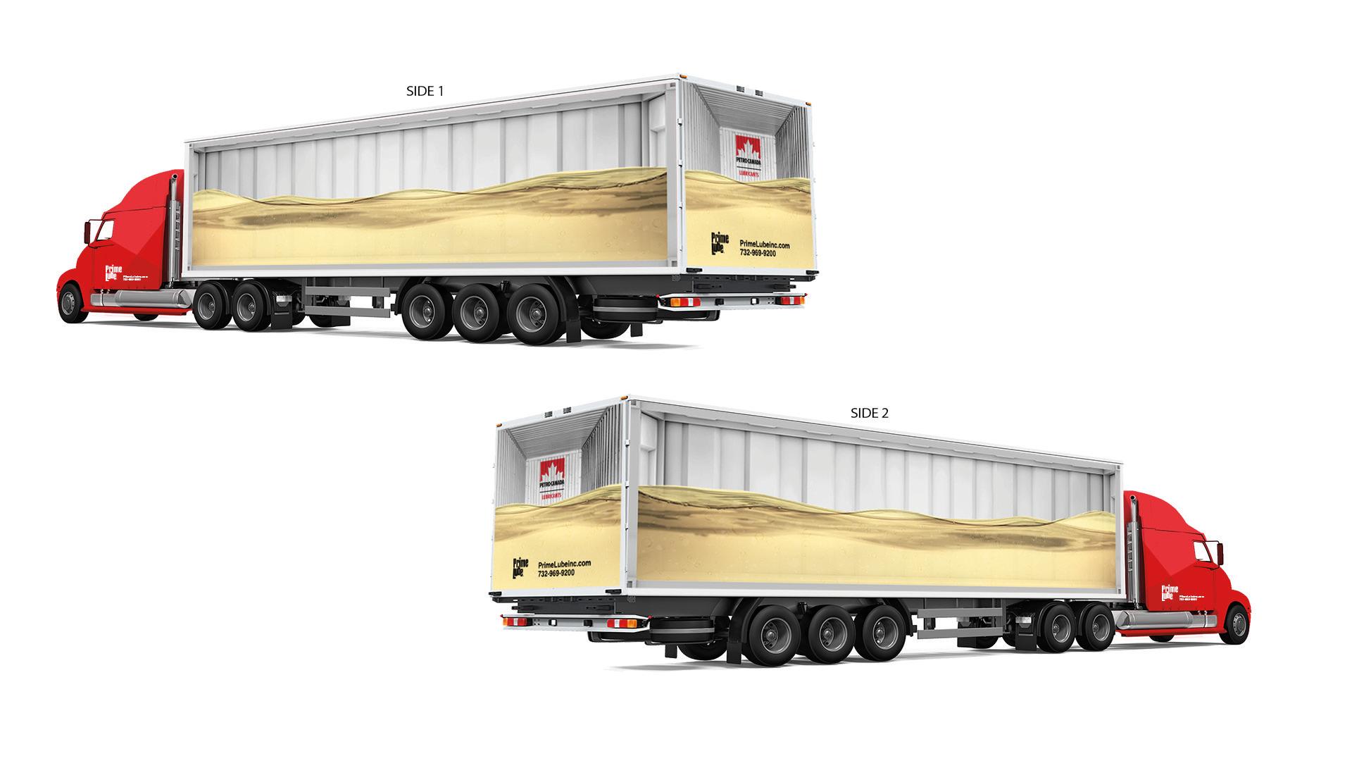 Truck Wrap Oil