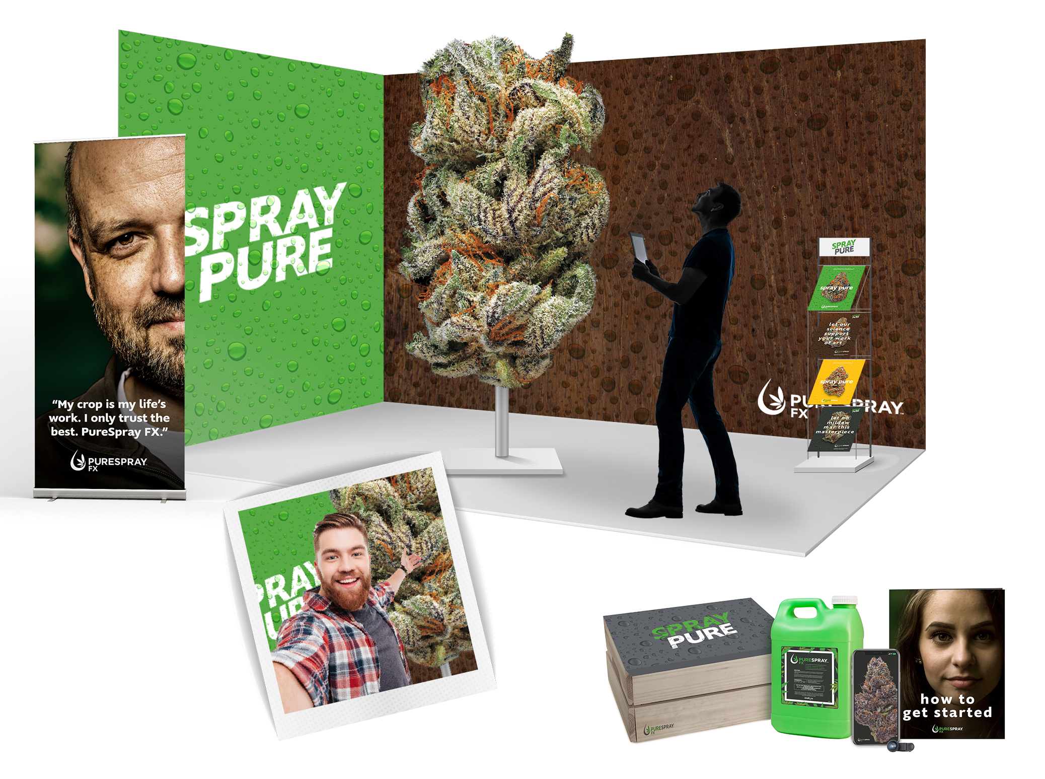PureSpray Tradeshow & Mailer Concept