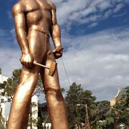 Copper Miner (Iron Man sculpture)