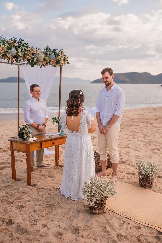 orçamento de casamento na praia