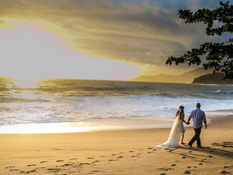 Os desafios de um casamento na Praia