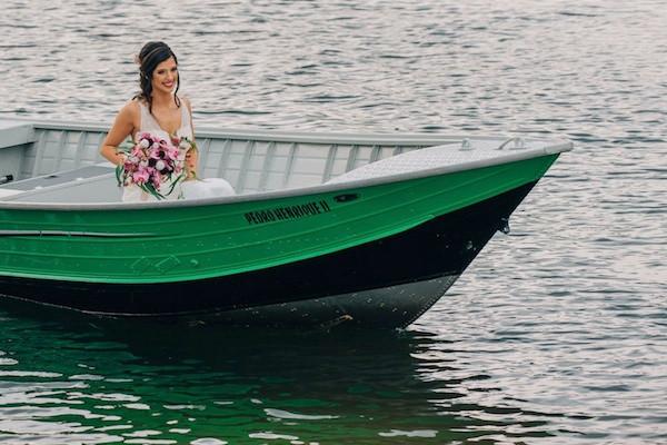 chegada da noiva de barco