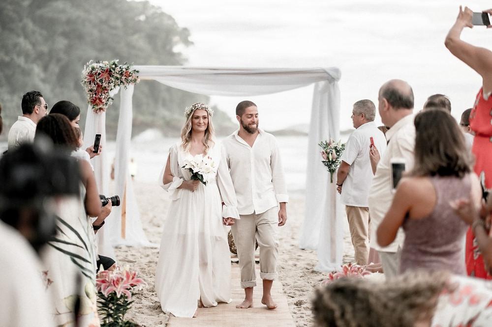 Casamento na praia de Itamambuca