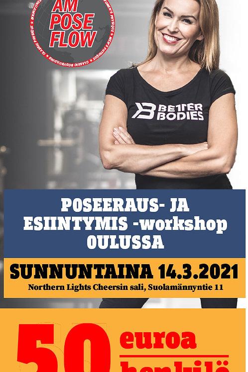 POSEERAUS- JA  ESIINTYMIS -workshop