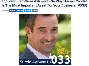 PODCAST FEATURING TRISEARCH'S STEVIE AYLSWORTH