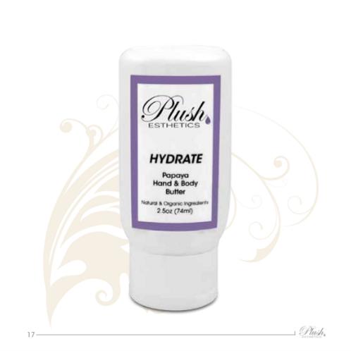 Plush Esthetics HYDRATE Papaya Hand-Body Butter