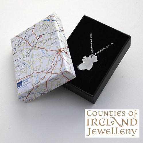 Silver 'Ireland' Pendant