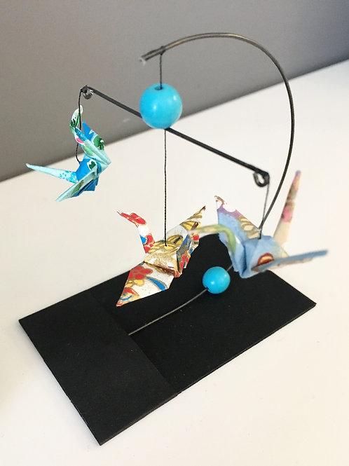 Japanese Papercraft Mini Mobile (Turquoise)