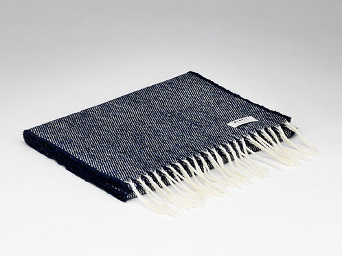McNutt Donegal Navy Lambswool Scarf