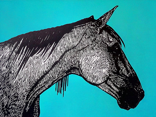 Shelagh Dwyer:  Dark Horse Blue