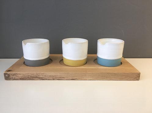 Diem Pottery  Condiment Set