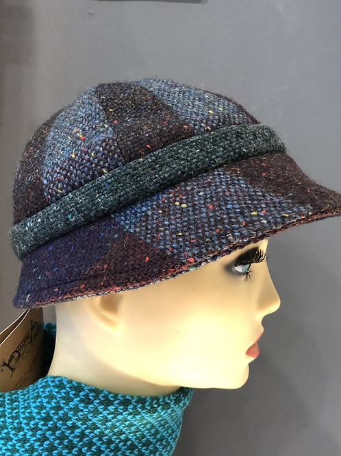 Hanna Hat Slieve League 3 colour Tweed