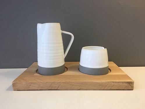 Diem Pottery Sugar & Creamer