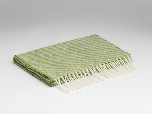 McNutt Lambswool Tweed Scarf - Donegal Lime