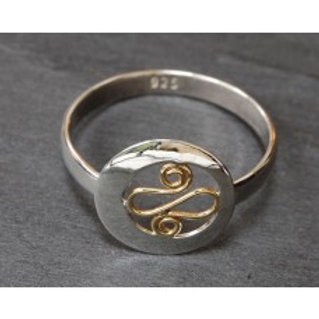 Banshee Silver Spiral Ring