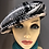 Thumbnail: Hanna Hat 8 Piece Cap Black & White Tweed