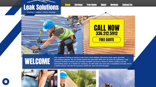 Leak Solutions website