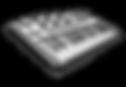 midi keyboard vector