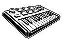 midi keyboard vector