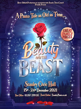 Beauty and the Beast at Stanley Civic Hall from 15th until 24th December 2021