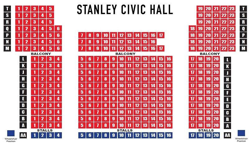 Stanley Civic Hall Seating Plan