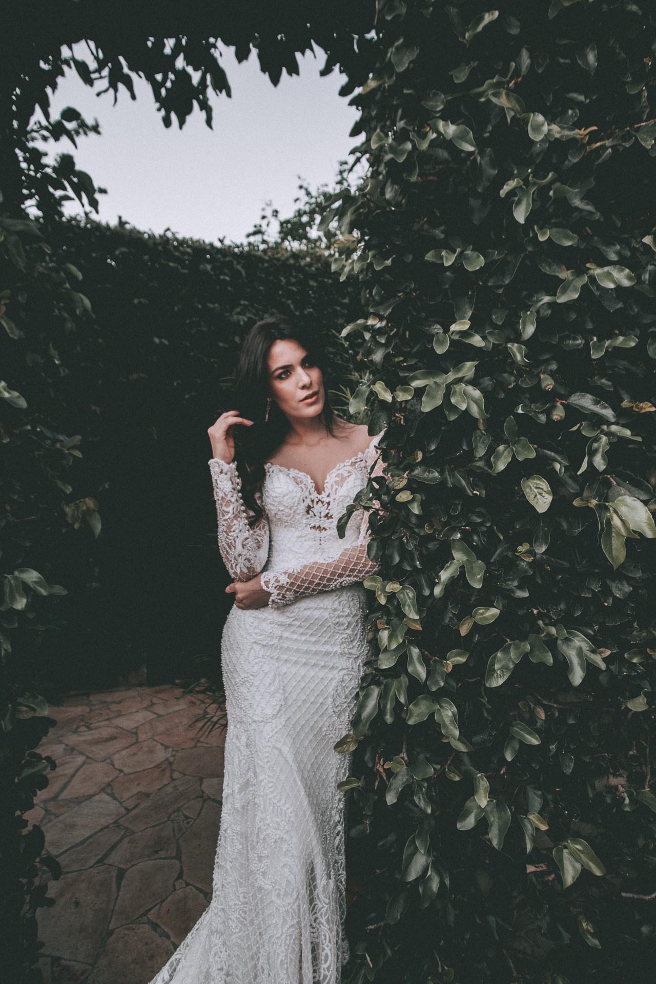vestido de noiva manga