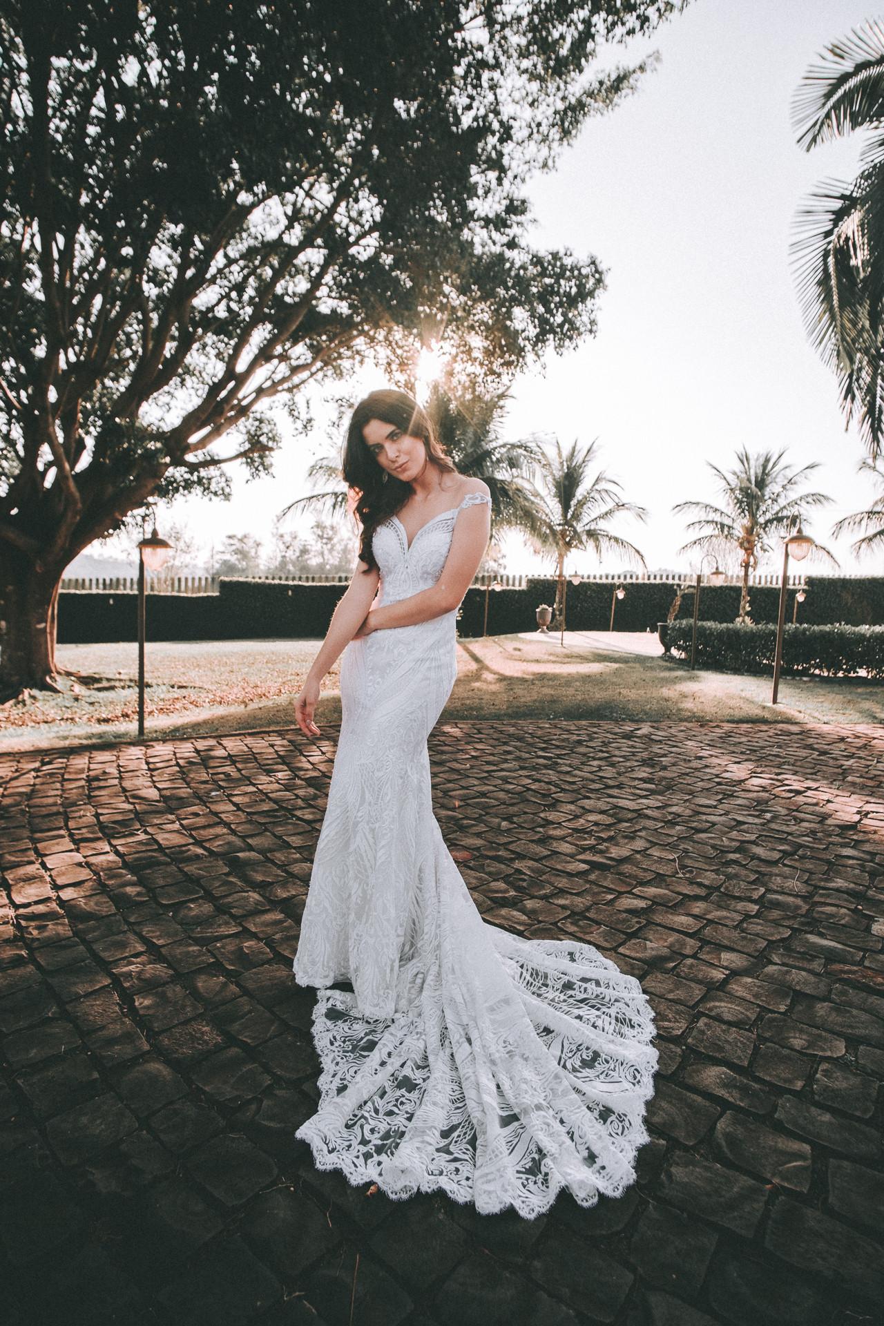 vestido de noiva calda