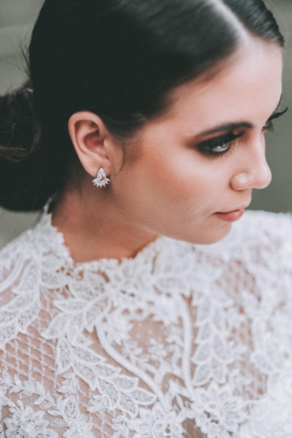 vestido de noiva gola