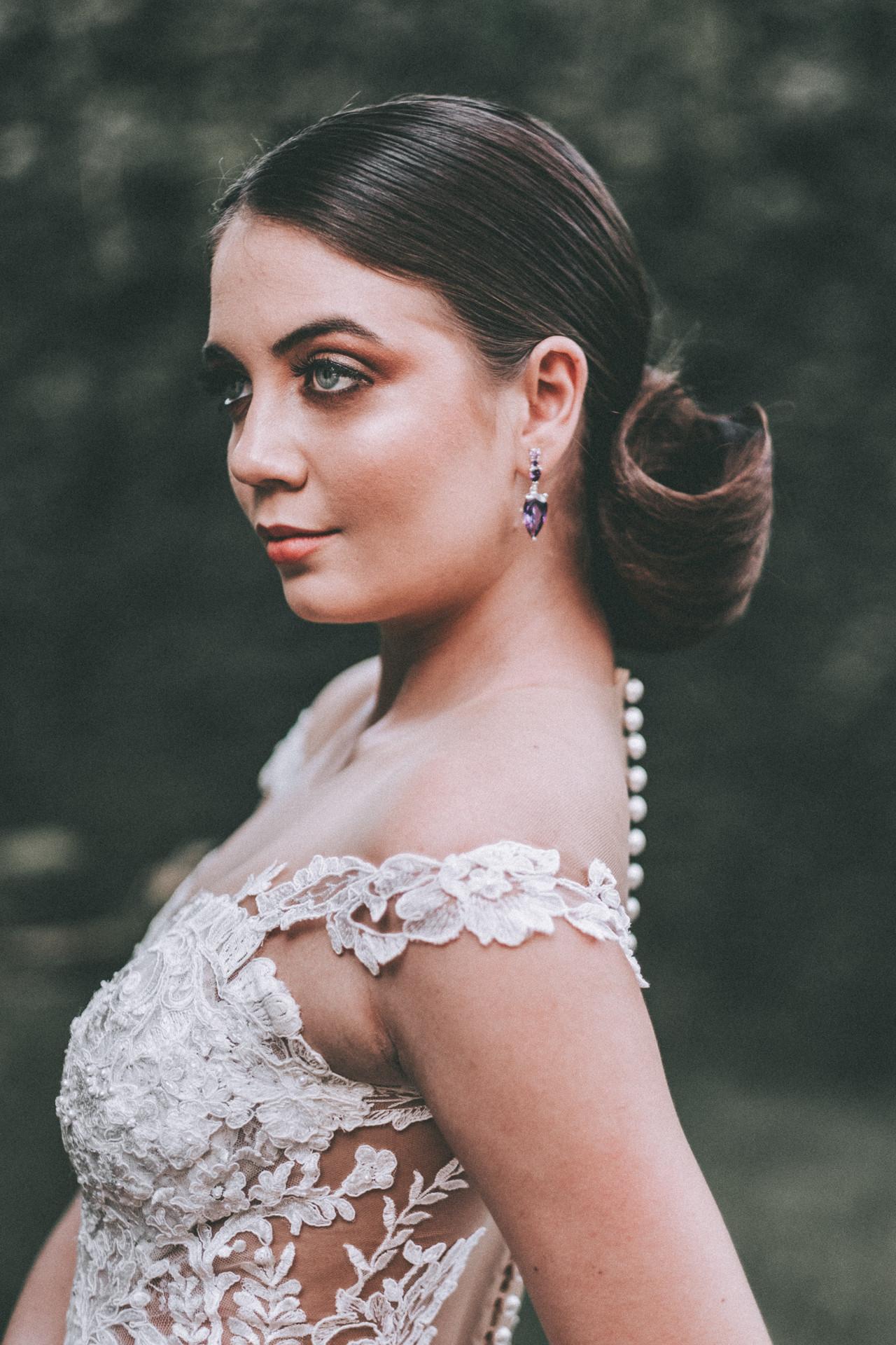 vestido de noiva alça londrina