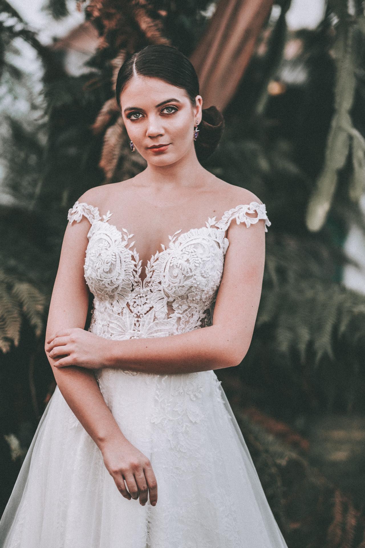 vestido de noiva decote